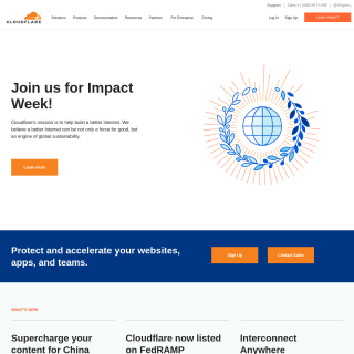 CLOUDFLARENET-AS Cloudflare  website