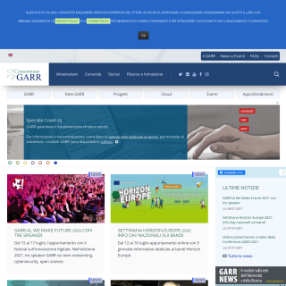 GARR  aka (GARR, The Italian Academic and Research Network)  website