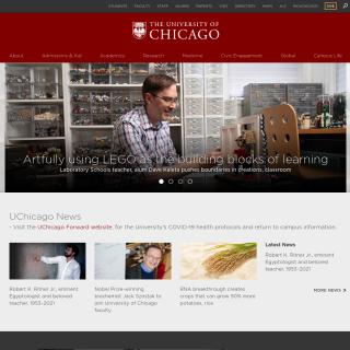 University of Chicago  aka (UChicago)  website