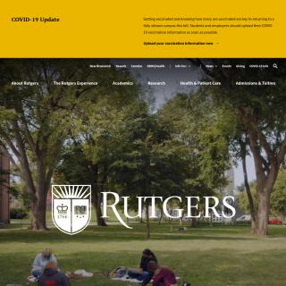 Rutgers University  aka (Rutgers, the State University of New Jersey)  website