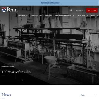 UPENN  aka (Penn)  website