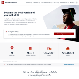 Indiana University  website
